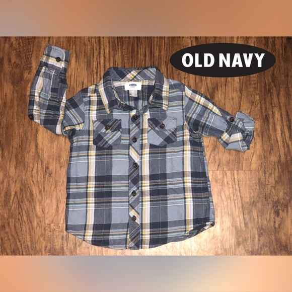 Old Navy Other - ⭐️Old Navy Boys Long Sleeve Plaid⭐️